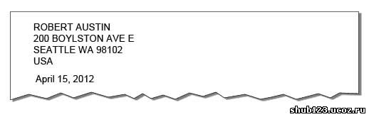 Дата в анлийском - письмо в США