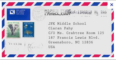 Пример почтового конверта