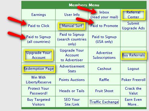 No-minimum Members Menu