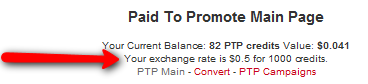 Paid to promout Exchange rate